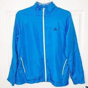 Men's Adidas Blue Full Zip Windbreaker Jacket Size XL